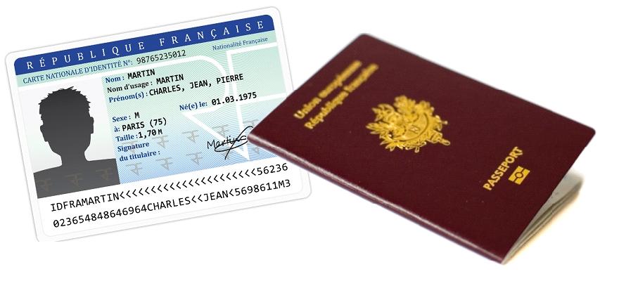 Carte d'identité, passeport